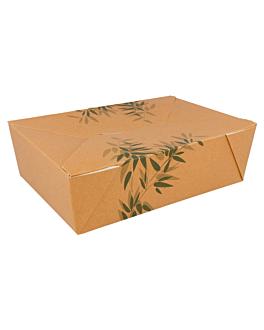 scatole americane per micro. 'feel green' 1980 ml 300 g/m2 + 12pp 19,8x14x6,4 cm marrone cartone (50 unitÀ)