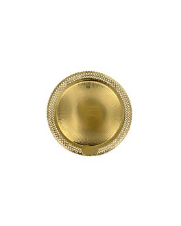 doilies plates 'erik' 1200 g/m2 + 300 g/m2 pp Ø 20 cm gold cardboard (100 unit)