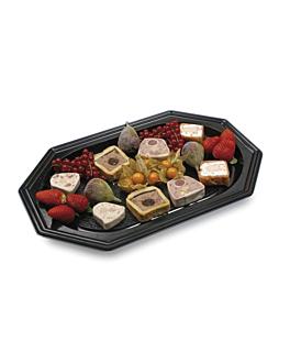 """trays """"traiteur"""" 55x36x3 cm black rpet (100 unit)"""