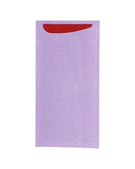 sacs pour couverts + serviette dry tissue bordeaux 33x40 cm 'just in time' 90 + 10pe g/m2 11,2x22,5 m parma cellulose (250 unitÉ)