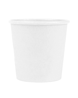pequeÑas tarrinas 90 ml 210 + 18 pe g/m2 Ø6,15/4,55x5,8 cm blanco cartoncillo (1000 unid.)