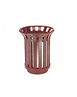 collecteur d'exterieur Ø 39x60 cm marron acier (1 unitÉ)