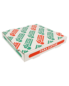 corrugated pizza boxes 348 gsm 26x26x4 cm white cardboard (100 unit)