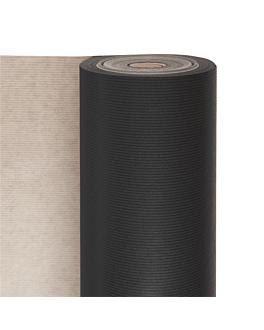 papier cadeau couleur unie 60 g/m2 0,7x100 m noir kraft vergÉ (1 unitÉ)
