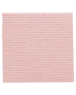 serviettes ecolabel 'double point - miami' 18 g/m2 20x20 cm rouge ouate (2400 unitÉ)