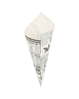 paper cones 'times' 250 g 70 gsm 29,5x21 cm white greaseproof parch. (2000 unit)