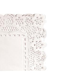 blondas rectangulares caladas 53 g/m2 37x26 cm blanco papel (250 unid.)