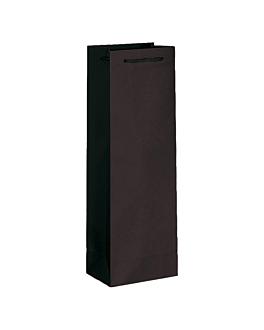 10 u. bolsa porta botellas cordon 150 g/m2 12,3+7,8x36 cm negro (1 unid.)