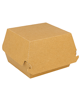 burger boxes standard 300 gsm 14x12,5x5,5 cm brown cardboard (50 unit)