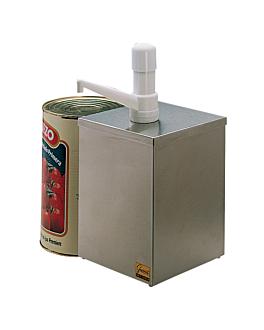 dispenser per condimento 1 pompa 18,2x18,2x39 cm argento acciaio inox (1 unitÀ)