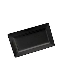 rectangular trays 44,5x22x4,5 cm black melamine (6 unit)