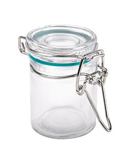 pot in vetro per snack, 45 ml Ø 4,5x6 cm trasparente cristal (96 unitÀ)