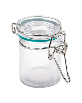 tarro para aperitivos Ø 4,5x6 cm transparente cristal (96 unid.)