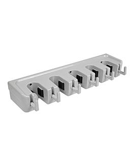 rack pour cintre À balai 42x12,5x6,7 cm gris abs (1 unitÉ)