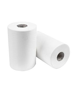"""essuie-mains """"mini-barril"""" ecolabel 1 pli - 300 feuilles 22 g/m2 Ø 13x20 cm blanc ouate (12 unitÉ)"""