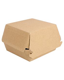 conchas hamb. jumbo-ondulado 14x12,5x8 cm natural kraft (600 unidade)