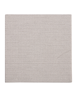 napkins 'like linen' 70 gsm 20x20 cm grey spunlace (3600 unit)