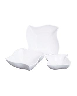 bol ondulÉ 4000 ml 28,3x28,3x10,7 cm blanc porcelaine (2 unitÉ)