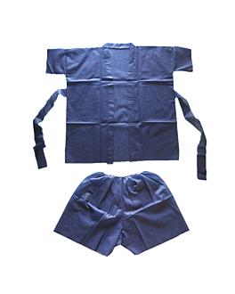 sauna suit: short+kimono  azul spunbond (10 unid.)
