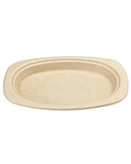 piatti ovali 'bionic' 23,3x16,5x2 cm naturale bagassa (800 unitÀ)