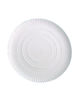 assiettes pÂtisserie en relief Ø 23 cm blanc carton (100 unitÉ)