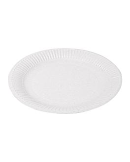 piatti goffrati pasticceria Ø 23 cm bianco cartone (100 unitÀ)