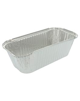 recipientes rectangulares 1500 ml 24,9x12,8x7 cm aluminio (100 unid.)