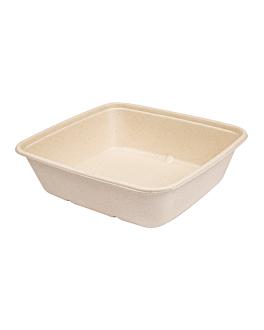 trays 'bionic' 1250 ml 20x18,5x5,5 cm natural bagasse (400 unit)