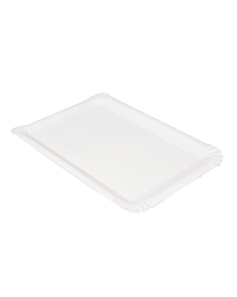 vassoi pasticceria - piccoli 23x17 cm bianco cartone (250 unitÀ)