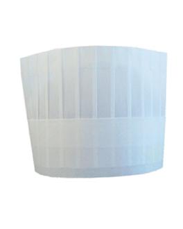gorros ajustables clÁsicos 18 cm blanco airlaid (10 unid.)