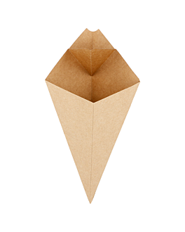 cones with flaps 100 g 275 gsm 21x12,5 cm natural kraft (1600 unit)
