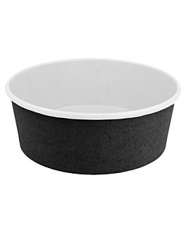 pots saladiers 1300 ml 18pe + 340 g/m2 + pe Ø18,4/16x6,6 cm noir carton (300 unitÉ)