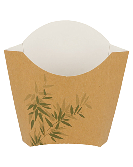 chip boxes standard 'feel green' 135 g 300 gsm 13x8x13,5 cm brown cardboard (1200 unit)
