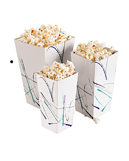 pop-corn containers 150 g 320 gsm 9x14x23 cm white cardboard (400 unit)