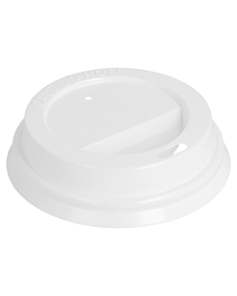 high dome lids for cups 180 ml white ps (1000 unit)