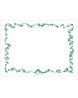 sets de table 'floralia' 48 g/m2 31x43 cm blanc cellulose (2000 unitÉ)