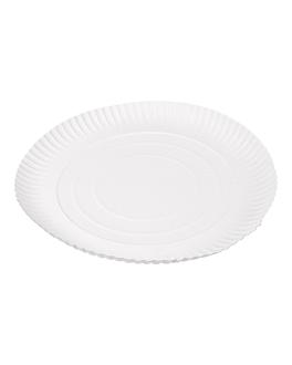 piatti goffrati pasticceria Ø 30 cm bianco cartone (50 unitÀ)
