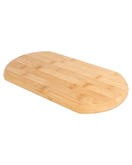 tabla oval 17x30x1,5 cm bambÚ (1 unid.)