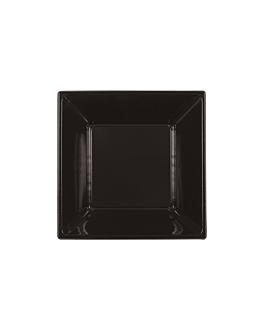 25 u. assiettes creuses 18x18x4 cm noir ps (20 unitÉ)