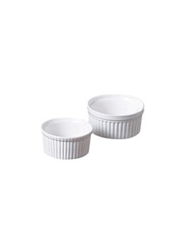 ramequins 90 ml Ø 6,6x3,4 cm blanc porcelaine (12 unitÉ)