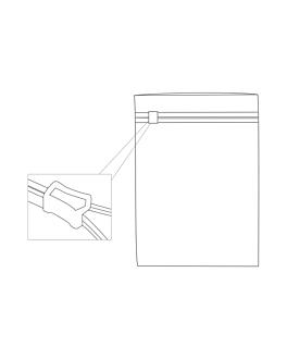 sachets usage divers zip cursor 100µ 24x33 cm transparent peld (250 unitÉ)