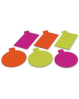 cardboards for patisserie aniseed & fuchsia 1100 g/m2 Ø 8 cm cardboard (200 unit)