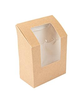"""scatole per """"tortilla"""" con finestra 'thepack' 220 g/m2 + opp 9,2x5,1x9,2/12,5 cm naturale cartone ondulato a nano-micro (500 unitÀ)"""