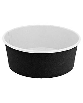 ensaladeras 750 ml 18pe + 340 + 18 pe g/m2 Ø15/12,8x6 cm negro cartÓn (300 unid.)