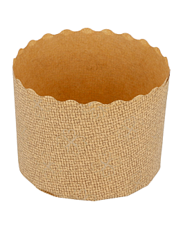 forme per cottura panettone Ø 6x4,5 cm marrone cellulosa (2000 unitÀ)