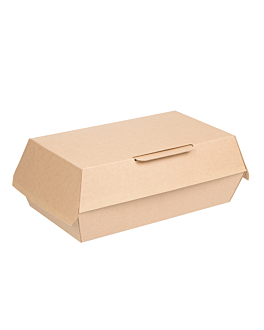"cajas ""lunch box"" 'thepack' 220 g/m2 22x13x7,5 cm natural cartÓn ondulado nano-micro (300 unid.)"