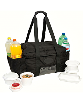 bolsa transporte picnic 40,6x30,5x25,5 cm negro (1 unid.)