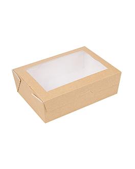 scatole con finestra 'thepack' 1000 ml 220 g/m2 + opp 12x17x5,5 cm naturale cartone ondulato a nano-micro (200 unitÀ)