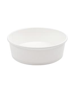 pots saladiers 500 ml 18pe + 320 + 18 pe g/m2 Ø15/12,8x4,5 cm blanc carton (300 unitÉ)