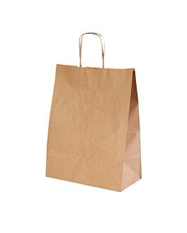 sos bags with handles 90 gsm 32+16x43 cm natural kraft (250 unit)